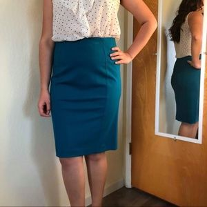 Anne Taylor turquoise pencil skirt